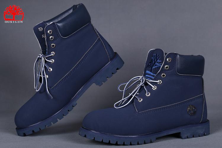 botte timberland bleu